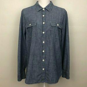 J. Crew denim Chambre Perfect shirt button up